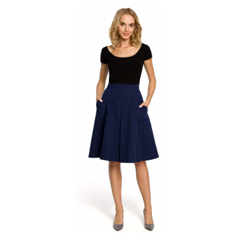 Made Of Emotion Woman's Skirt M184 Navy Blue