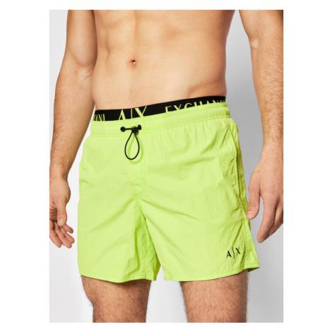 Armani Exchange Szorty kąpielowe 953020 1P641 07483 Zielony Regular Fit