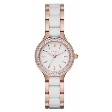 Zegarek DKNY - Chambers NY2496 Rose Gold/White/Clear