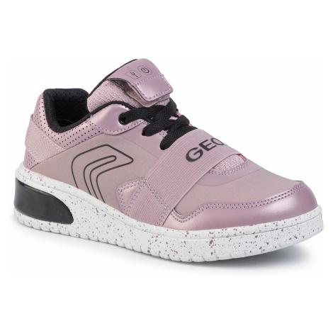 Sneakersy GEOX - J Xled G. A J928DA 0NF6K C0115 D Pink/Black