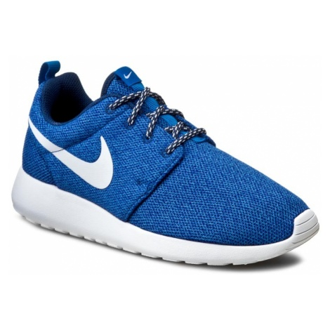 Buty NIKE - Roshe Run 844994 400 Coastal Blue/White/Blue Spark