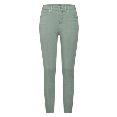 GAP Jeansy 'TR SKINNY HR ANKLE WASHED COLOR' jasnozielony