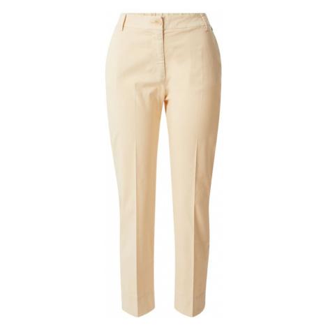 Rich & Royal Spodnie w kant kremowy