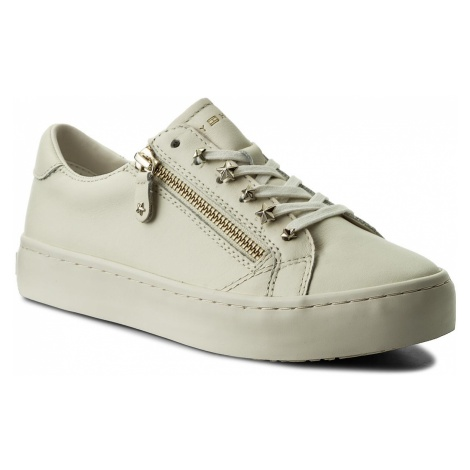 Sneakersy TOMMY HILFIGER - Star Jeweld Leather Sneaker FW0FW02674 Whisper White 121