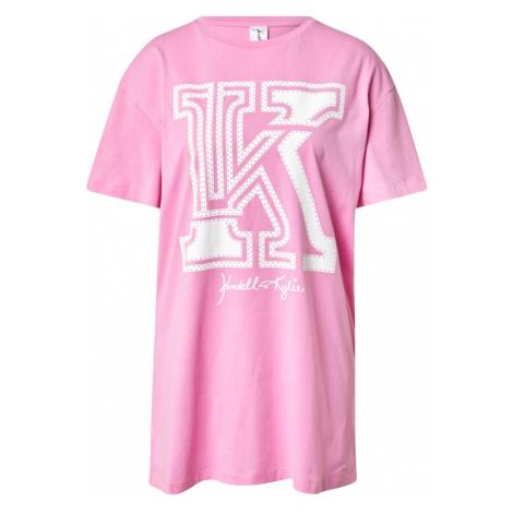 KENDALL + KYLIE Koszulka 'Applic' różowy / biały