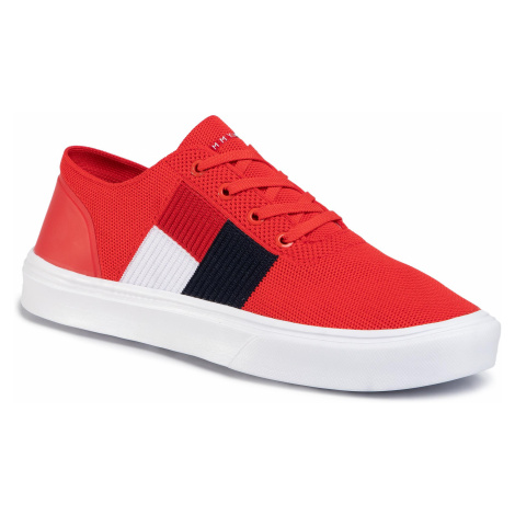 Sneakersy TOMMY HILFIGER - Lightweight Knit Flag Sneaker FM0FM02545 Fiery Red XA7