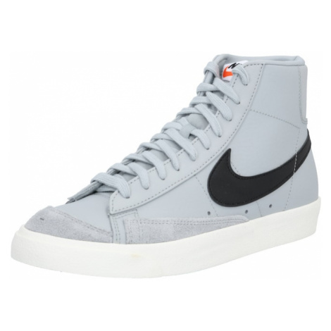 Nike Sportswear Trampki wysokie 'Blazer Mid 77 Vintage' czarny / szary dym