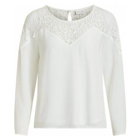 VILA Koszulka 'VIBEKIDA LACE L/S TOP' biały