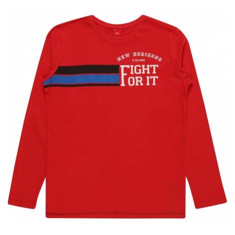 S.Oliver Junior Koszulka nakrapiany czerwony