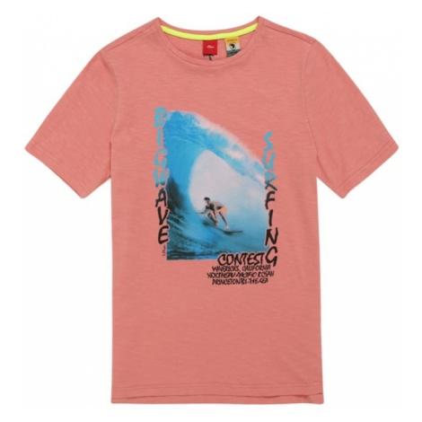 S.Oliver Junior Koszulka niebieski neon / łososiowy