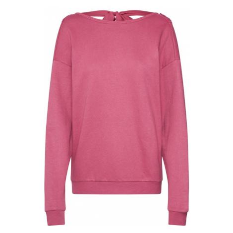 ONLY Bluzka sportowa 'onlMARGUERITE L/S V-NECK BACK' różowy pudrowy