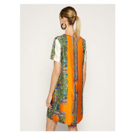 Tory Burch Sukienka letnia Printed Shift Dress 53914 Kolorowy Regular Fit