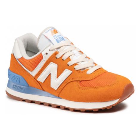New Balance Sneakersy WL574VI2 Pomarańczowy