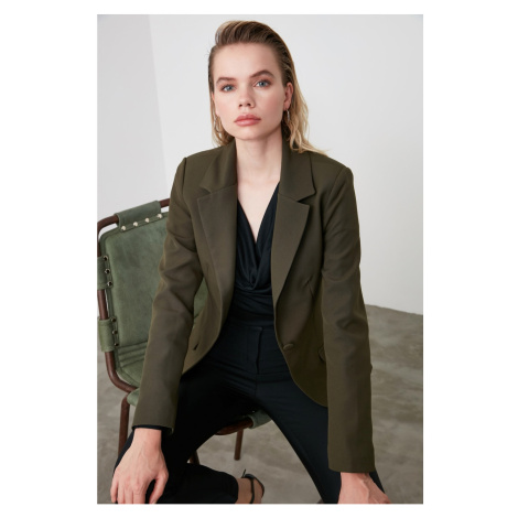 Trendyol Khaki Short Blazer Jacket