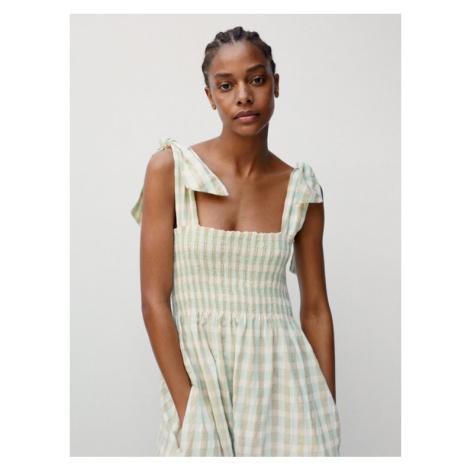 Mango Sukienka letnia Cecil 87007152 Zielony Regular Fit