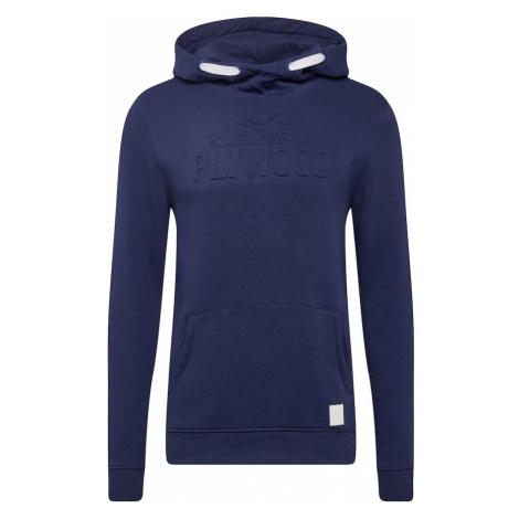 TOM TAILOR Bluzka sportowa 'hoodie with embossed print' atramentowy