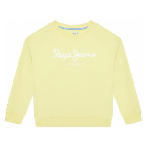 Pepe Jeans Bluza Rose PG581083 Żółty Regular Fit