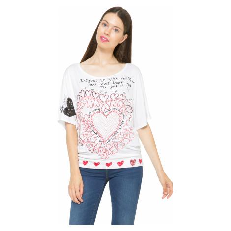 koszulka Desigual 61T24R8/Lalia - 1000/Blanco
