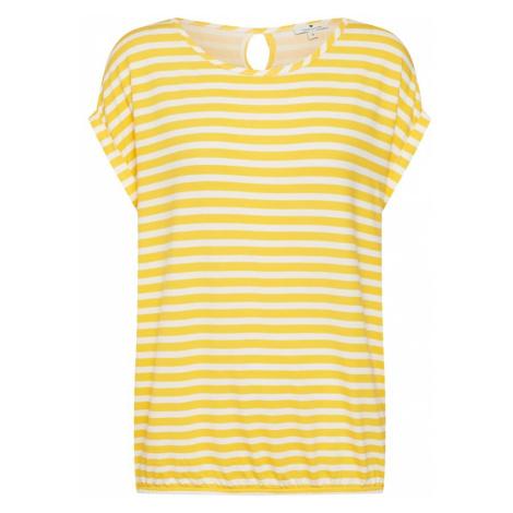 TOM TAILOR Koszulka żółty / biały
