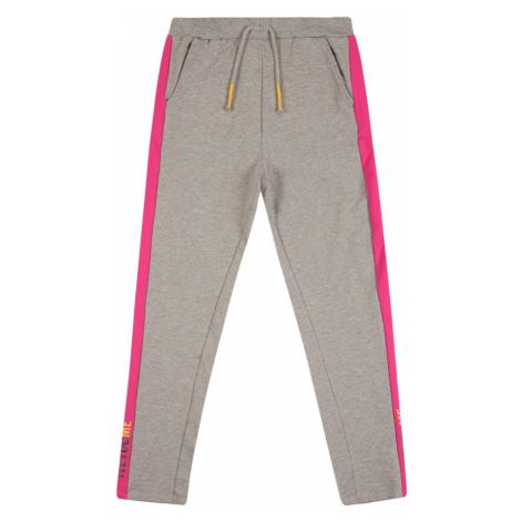 NAME IT Spodnie nakrapiany szary / różowy