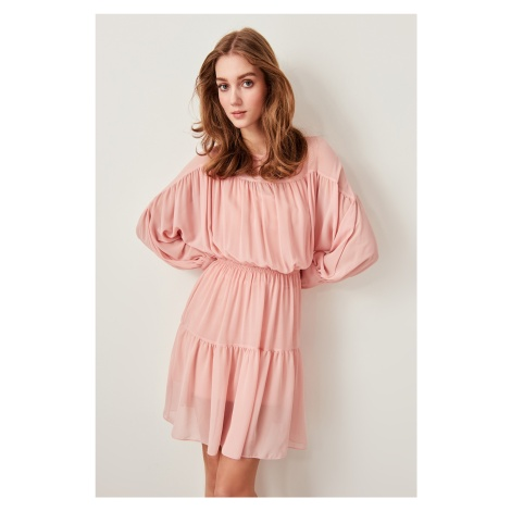 Trendyol Pink Ruffled Dress