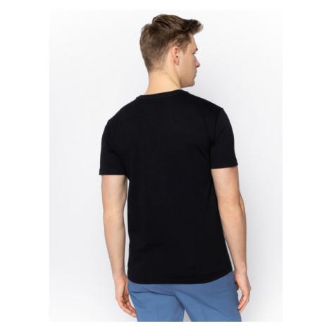 Trussardi Jeans T-Shirt 52T00327 Czarny Regular Fit