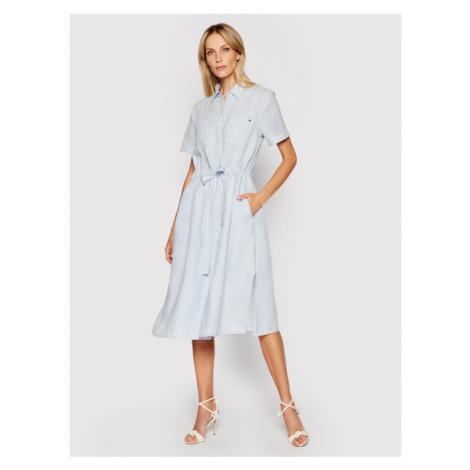Tommy Hilfiger Sukienka koszulowa WW0WW32435 Niebieski Regular Fit