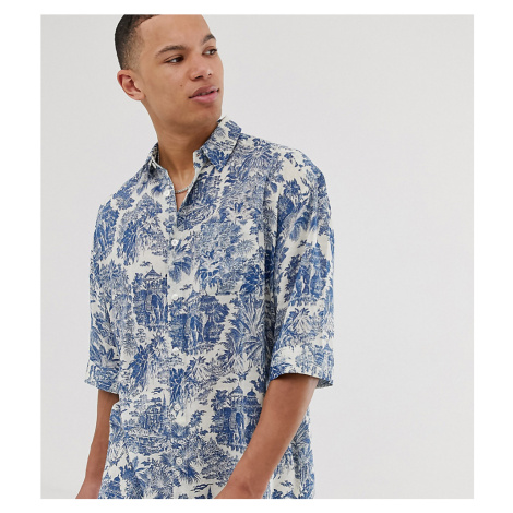 ASOS DESIGN Tall relaxed shirt with delicate print