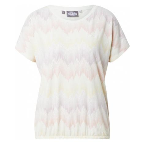 Mazine Koszulka 'Celina T' biały / liliowy / żółty / różowy pudrowy