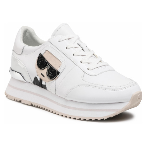 Sneakersy KARL LAGERFELD - KL61930 White Lthr/Suede