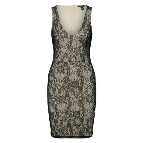NEW LOOK Sukienka koktajlowa cielisty / czarny