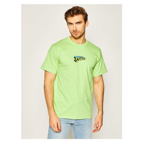 HUF T-Shirt Stoops Man TS01015 Zielony Regular Fit
