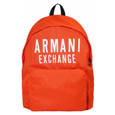 ARMANI EXCHANGE Plecak pomarańczowy / biały
