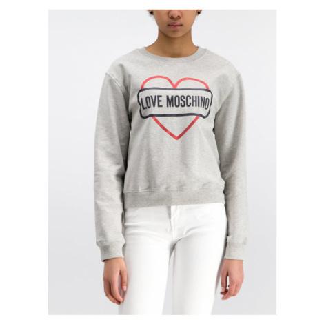LOVE MOSCHINO Bluza W630621E2017 Szary Regular Fit