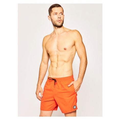Volcom Szorty kąpielowe Lido Solid A2512005 Pomarańczowy Regular Fit