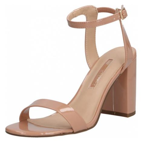 Dorothy Perkins Sandały z rzemykami 'Shimmer' Heeled Sandal' różowy pudrowy