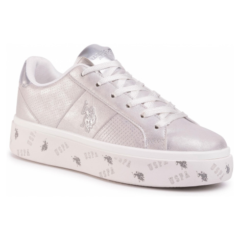 Sneakersy U.S. POLO ASSN. - Betty Shiny LUCY4119S0/Y1 Sil