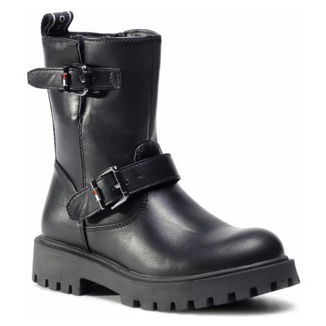 Kozaki TOMMY HILFIGER - Biker Boot T3A5-30855-0193 M Black 999