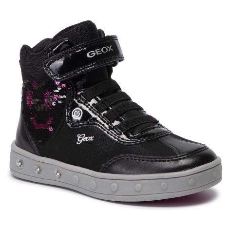 Sneakersy GEOX - J Skylin G. B J948WB 0BLAJ C0922 M Black/Fuchsia