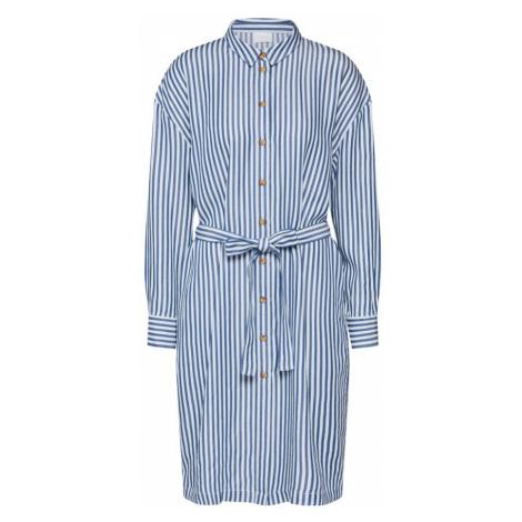 VILA Sukienka koszulowa 'Visuka' biały / niebieski