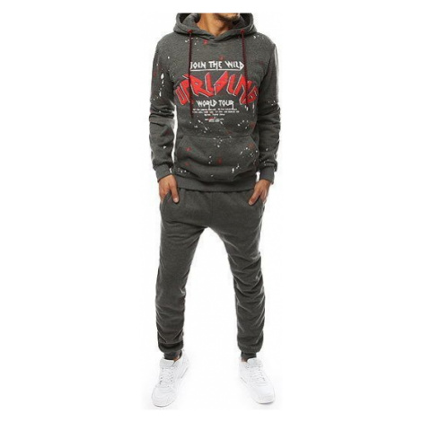 AX0224 anthracite men's tracksuit DStreet