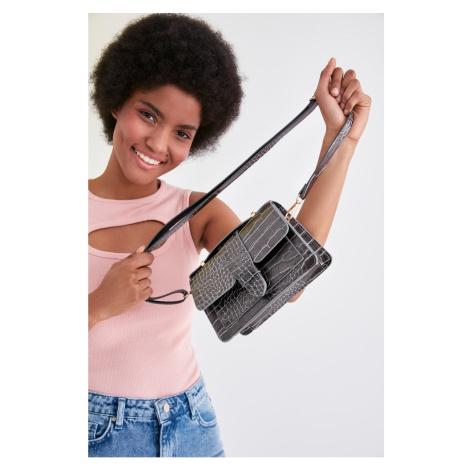Modyol Antracyt przywiązany torba na ramię Trendyol