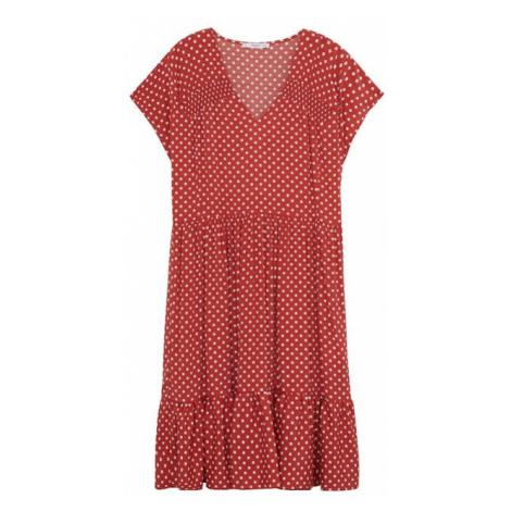 MANGO Sukienka 'Laura' grenadynowy / biały