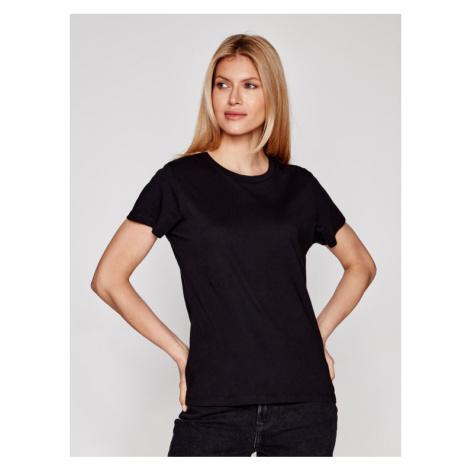 Samsøe Samsøe T-Shirt Solly Solid F00012050 Czarny Regular Fit