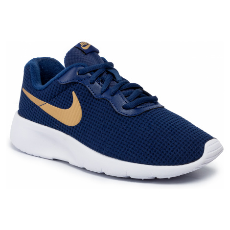 Buty NIKE - Tanjun (GS) 818381 406 Blue Void/Metallic Gold/White