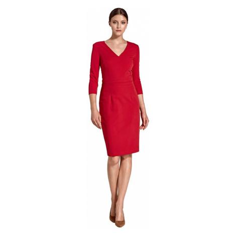 Sukienka z plisowanym paskiem w talii Colett