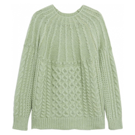 MANGO Sweter 'Handia' pastelowy zielony