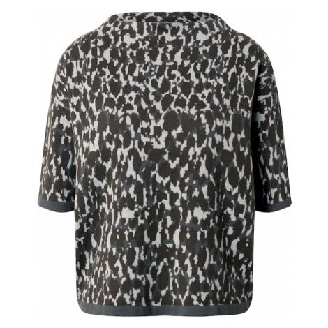 OPUS Sweter 'Panny' ciemnozielony / jasnoszary