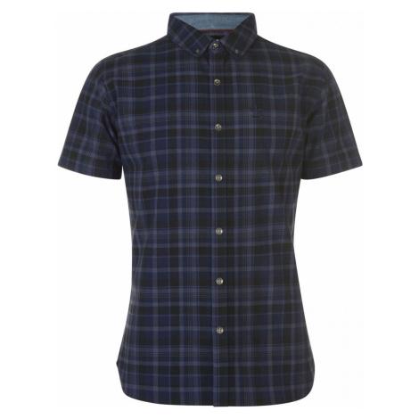 Firetrap Short Sleeve Check Shirt Mens