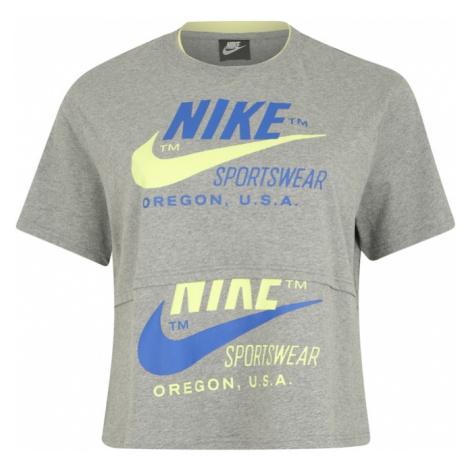 Nike Sportswear Koszulka niebieski / szary